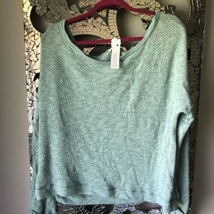 Teal Knit Sweater LA Made